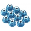 Factory Team Blue Aluminum 4mm Locknuts (10)