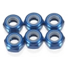 Factory Team Blue Aluminum M3 Locknuts (6)