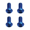 M2X4 Button Head Blue Aluminum Screws(4)