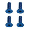 M2X6 Flat Head Blue Aluminum Screws (4)