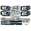 RC10B4 Logo Decal Sheet. With Team Associated, LRP, AE, Reedy logos. Black and white.