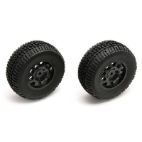 Rear Tire/Wheel Combo, Black: SC10 Featured Photo