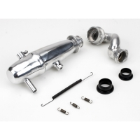 1/10 Revo Power Inline Exhaust System: Polished Featured Photo