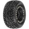 Dirt Hawg I Tires Mounted on Black Bead-loc Titus Wheels for 1/16 E-Revo (2)