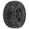 "Trencher 3.8"" All Terrain Truck Tires Mounted on Black Tech 5 Wheels (2)"