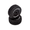 PreMounted Tire Set (2), Black: Torment