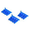 Neon Blue Heavy Duty 4-40 Rod Ends (12)