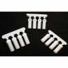 Dyeable White Heavy Duty 4-40 Rod Ends (12)