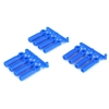 Long Shank Rod Ends 4-40 Neon Blue (12)