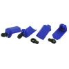 Shock Shaft Guards (4), Blue: Traxxas 1/10 Photo #1