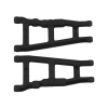 Black Front or Rear A-Arms for Traxxas 1/10 Rally, Slash 4x4, and Stampede 4x4 (2)