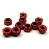 Aluminum Locknuts - Red Anodized (10)