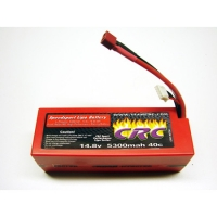 14.8V 4S 5300mAh 40C LiPo Battery with Deans Connector Featured Photo