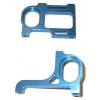 Associated Style Aluminum Pod Plates (pr) (Blue)