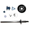 1/12th Associated Style Large D-Ring Axle Kit (Blue) - Graphite
