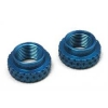 VCS Micro Shock Adj Nuts (2) (Blue)