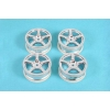 RC 5 Spoke Metal Plated Wheel - 4pcs (24mm Offset 0)