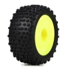 Wheel & Tire Set, Yellow: Micro Truggy