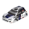 1/24 4WD Rally Painted Body, Silver/Blue Photo #1