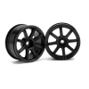 Work XC8 26mm Wheel, White 3mm Offset (2):RS4