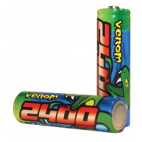 Rechargeable 2400 mAh NiMH 1.2v AA Batteries (4) Featured Photo