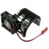 Motor Heat Sink w/Side Extended Electric Cooling Fan for 540 Motor (Black)