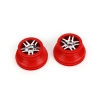 Red Beadlock Split-Spoke Wheel (2): Slayer 4x4