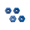 Alum Hex Wheel Hubs, Blue (4): 1/16 SLH, ERV