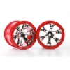 "Geode 2.2"" Wheels, Red (2) 12mm Hex:1/16 Summit"