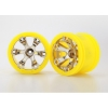 "Geode 2.2"" Wheels, Yel (2) 12mm Hex: 1/16 Summit"