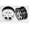 Volk Racing TE37 Wheels, Chrome (2):1/16