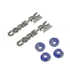 M4 Serrated Nuts (Blue) (4)
